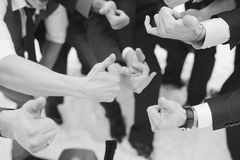 Friends friendship. Like thumbs up togetherness fun concept Stock Images