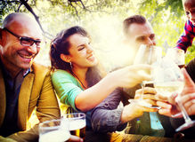 Friends Friendship Outdoor Chilling Togetherness Concept Royalty Free Stock Photo