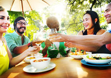 Friends Friendship Outdoor Chilling Togetherness Concept Stock Photo