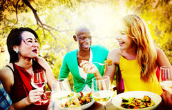 Friends Friendship Outdoor Chilling Togetherness Concept Stock Images