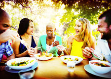 Friends Friendship Outdoor Chilling Togetherness Concept Royalty Free Stock Photography