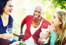 Friends Friendship Outdoor Chilling Togetherness Concept Royalty Free Stock Photos