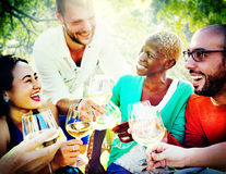 Friends Friendship Outdoor Chilling Togetherness Concept Stock Photography