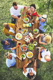 Friends Friendship Outdoor Dining Hanging out Concept Stock Photos