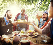 Friends Friendship Outdoor Dining People Concept Stock Images
