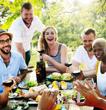 Friends Friendship Outdoor Dining People Concept royalty free stock images