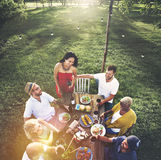 Friends Friendship Outdoor Dining People Concept Royalty Free Stock Photography