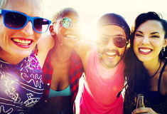 Friends Friendship Vacation Togetherness Fun Concept Royalty Free Stock Image