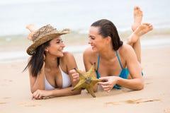 Friends fun beach Royalty Free Stock Image