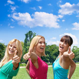 Friends fun outdoors Royalty Free Stock Photography
