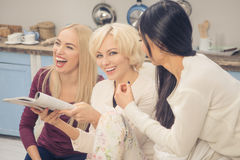 Friends girls having party at home Royalty Free Stock Photo