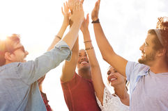 Friends giving high five Royalty Free Stock Image