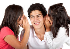 Friends gossiping Stock Photo