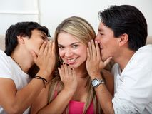 Friends gossiping Royalty Free Stock Image