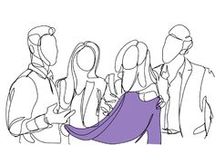 Friends Group Choosing Clothes Sketch People Talking Hold Sweater Men And Women Doodle Shopping. Vector Illustration Royalty Free Stock Photo