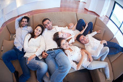 Friends group get relaxed at home Royalty Free Stock Photography