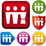 Friends group icon Stock Photo