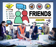 Friends Group People Social Media Loyalty Concept Royalty Free Stock Photography