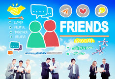 Friends Group People Social Media Loyalty Concept Royalty Free Stock Photos
