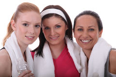 Friends at the gym together Stock Photography