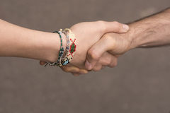 Friends Handshake - closeup Royalty Free Stock Image