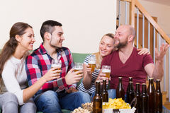 Friends hanging out with beer Stock Image