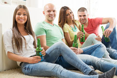 Friends hanging out Stock Images