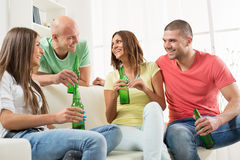 Friends hanging out Royalty Free Stock Image