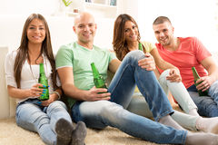 Friends hanging out Stock Photography