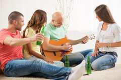Friends hanging out Royalty Free Stock Photo