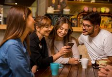 Factime with friends Royalty Free Stock Photo