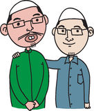 Friends. Happy muslim friends like brother Royalty Free Stock Images
