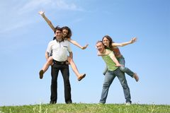 Friends Have Fun Royalty Free Stock Images