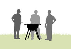 Friends Having A Barbecue In Garden Stock Photography