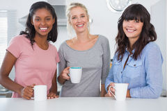 Friends having coffee together Royalty Free Stock Image