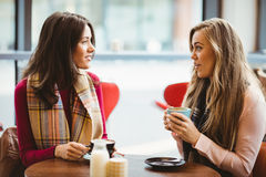 Friends having a cup of coffee Royalty Free Stock Image