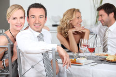 Friends having dinner Royalty Free Stock Photography