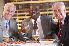 Friends Having Dinner Together At A Restaurant Royalty Free Stock Photo