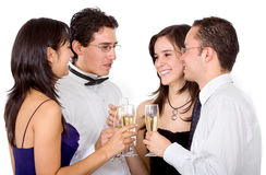 Friends having a drink Stock Photography