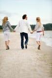 Friends having fun. Happy friends having fun on the beach Royalty Free Stock Image