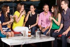 Friends having fun at a bar Royalty Free Stock Photos