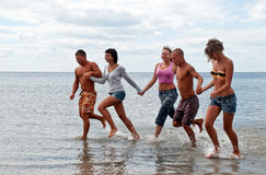 Friends having fun at the beach Royalty Free Stock Photo