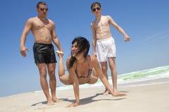 Friends having fun at the beach Royalty Free Stock Photo