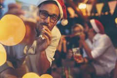 New Year`s Eve party fun stock image