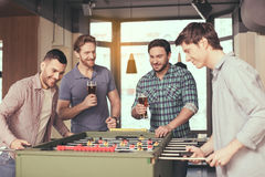 Friends having fun in pub Stock Photography