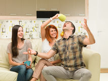 Friends having fun Stock Images