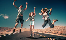 Friends having fun Royalty Free Stock Image