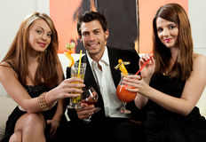 Friends having good time royalty free stock photo