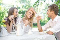 Friends having good time Stock Photos
