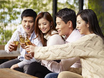 Friends having a good time together Stock Images